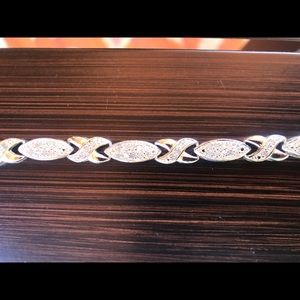 Sterling silver with cubic zirconia bracelet